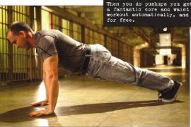 俯卧撑诫条1:身体绷直!